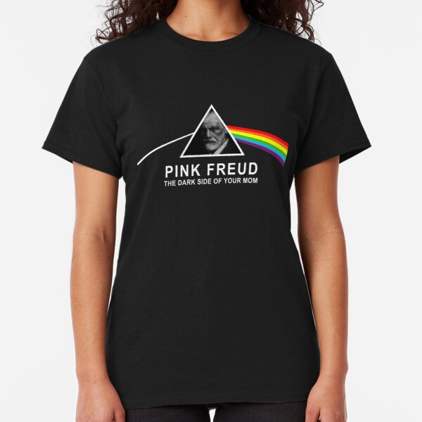 Pink Sigmund Freud - The Dark Side of your Mom Classic T-Shirt
