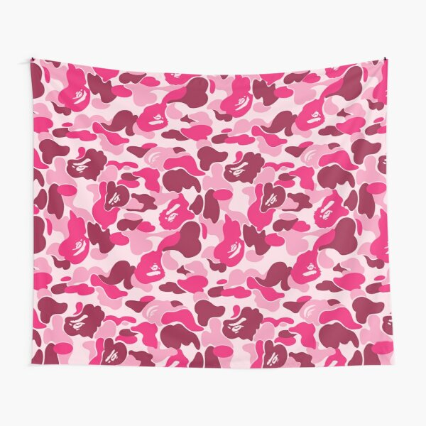Pink Bape Camo Tapestry