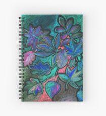 Hojas de noche ultravioleta Cuaderno de espiral