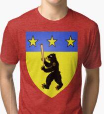 Bear Jew Crest Inglorious Basterds (Bastards) Tri-blend T-Shirt