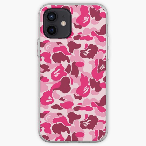 Pink Bape Camo iPhone Soft Case