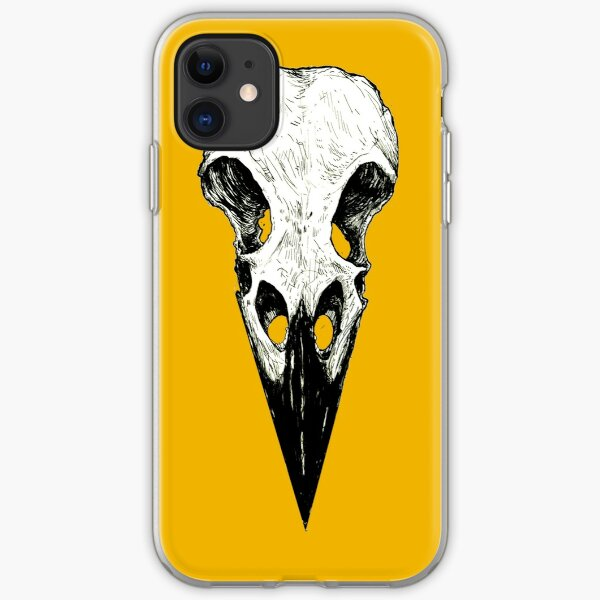 Raven Skull iPhone Soft Case