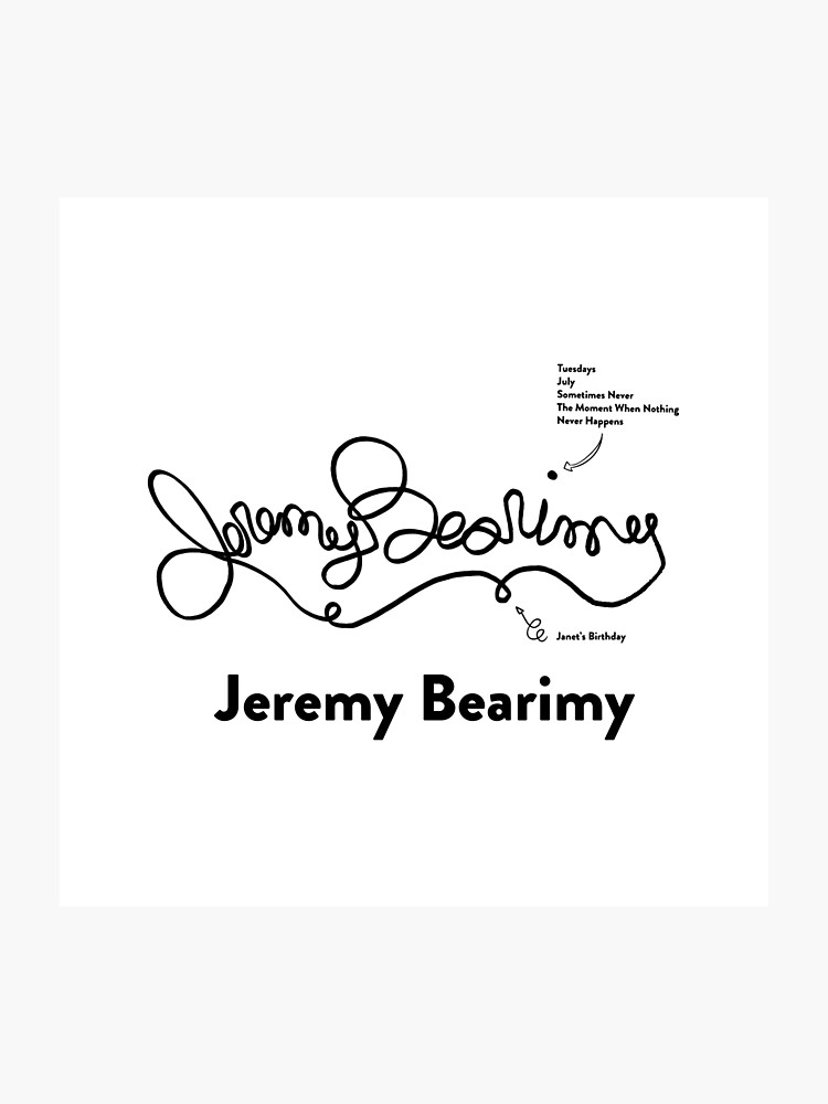 Jeremy Bearimy - Inspired by The Good Place | Photographic Print
