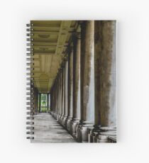 The columns of the Old Naval College in Greenwich, London Spiral Notebook