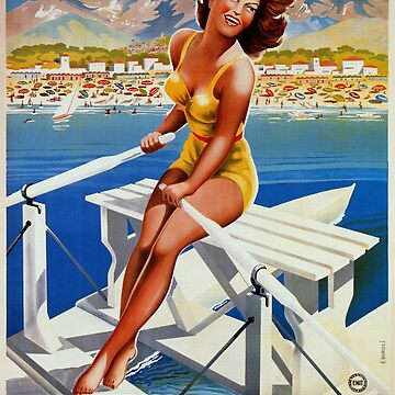 Vintage Marina di Massa Italian travel advertising by aapshop