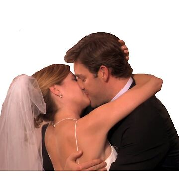 Jim and Pam kissing at their wedding  by p0pculture3