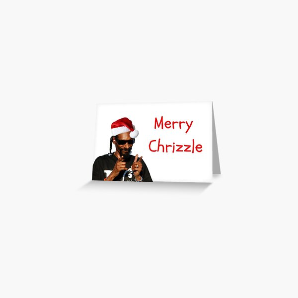 Snoopy Xmas Card, rapper greeting card Greeting Card