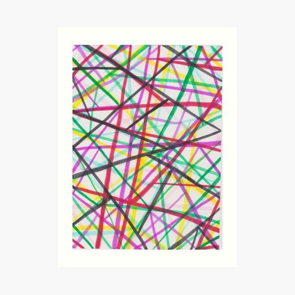 Pattern with paint pen 2 Art Print