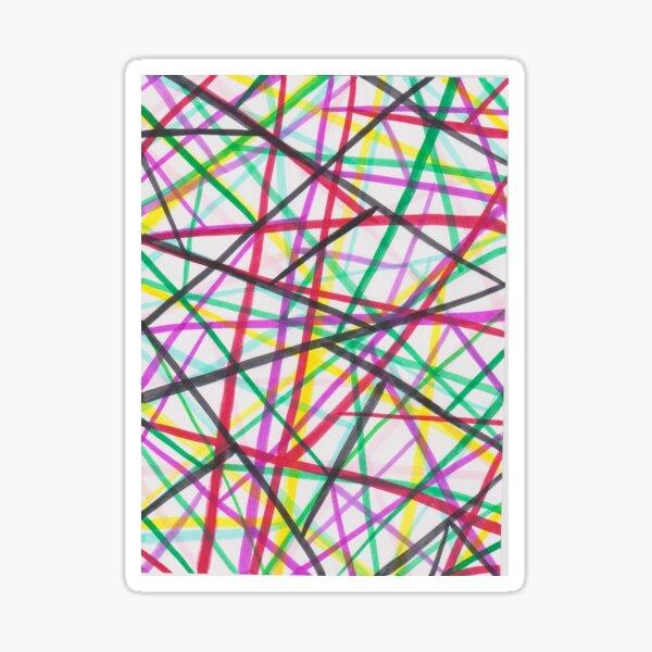 Pattern with paint pen 2 Sticker