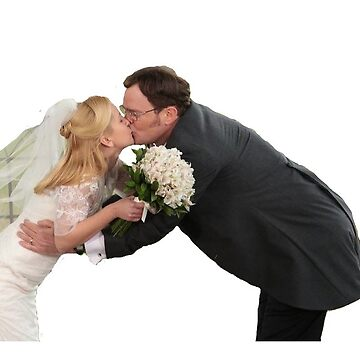 Dwight and Angela kissing at their wedding - transparent by p0pculture3