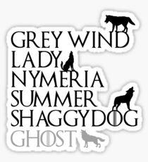 Game of Thrones Direwolves Sticker