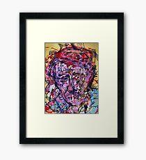 Sad Vincent ( Homage to Vincent VanGogh )  Framed Print