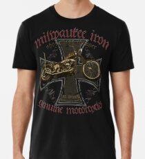 Shovelhead Chopper Milwaukee Iron Cross Premium T-Shirt