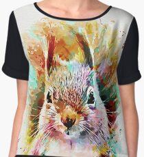 Squirrel Painting Chiffon Top