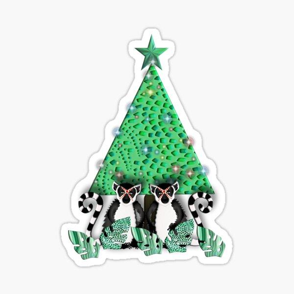 LEMUR 153 CHRISTMAS. Sticker