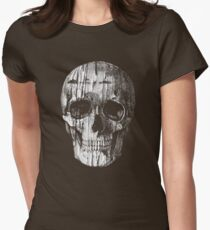 Ripped Up Skull Women's Fitted T-Shirt