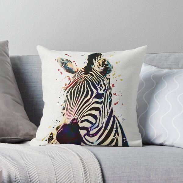 Zebra Aquarell Kunst Dekokissen