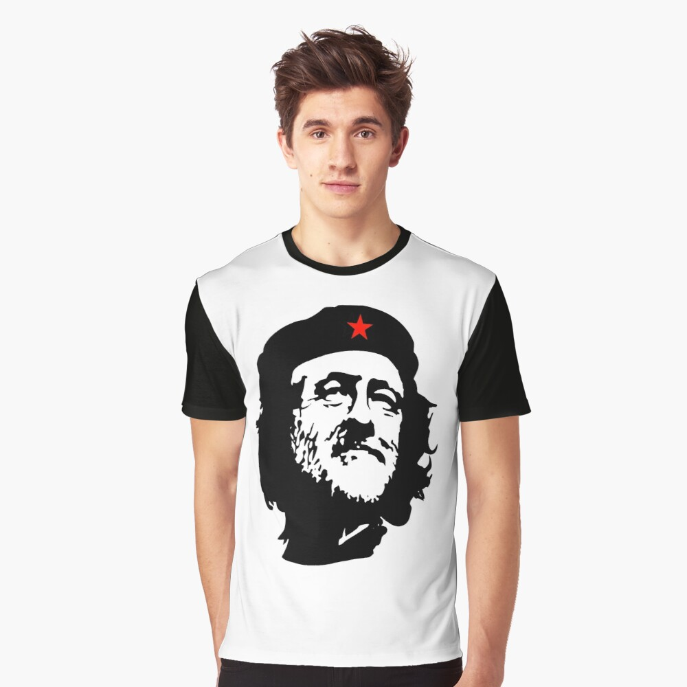 CORBYN, Comrade Corbyn, Election, Leader, Politics, Labour Party, Black on White Grafik T-Shirt
