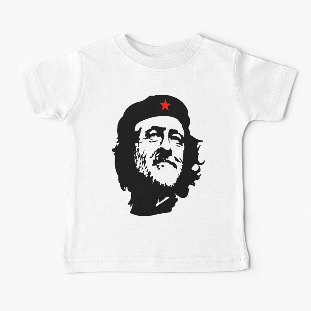 CORBYN, Comrade Corbyn, Election, Leader, Politics, Labour Party, Black on White Baby T-Shirt