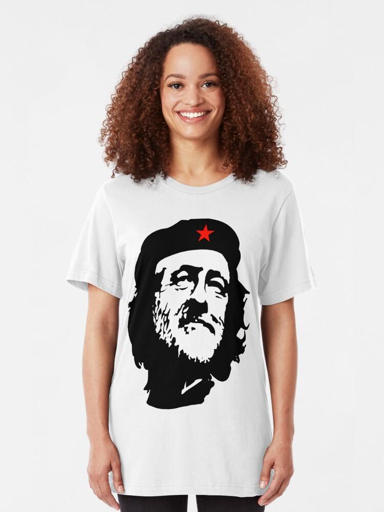 Alternative Ansicht von CORBYN, Comrade Corbyn, Election, Leader, Politics, Labour Party, Black on White Slim Fit T-Shirt