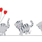 « Trois petits chats » par Gommedecrayon