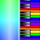 Rainbow Piano Keyboard by Packrat