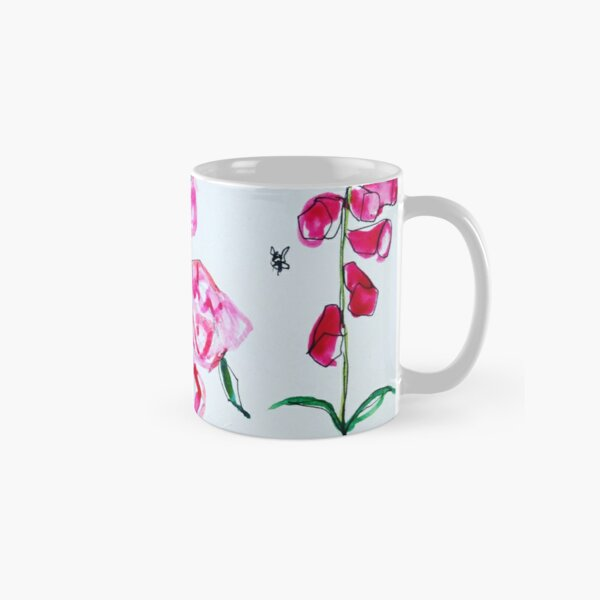 Foxglove and rose Classic Mug