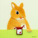 Erdbeermarmelade I (2016) Rabbit / Bunny Art. No. von IkuyoFujita