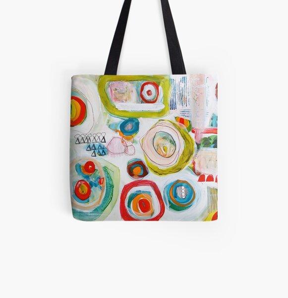 graffiti circles All Over Print Tote Bag