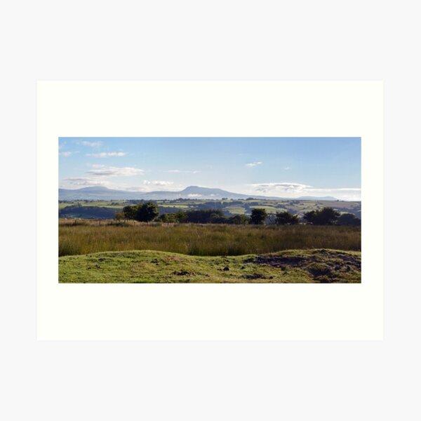The Yorkshire 3 Peaks Art Print