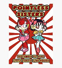 Pointless Sisters English Text Photographic Print