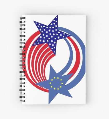 Cape Verdean American Multinational Patriot Flag Series Spiral Notebook