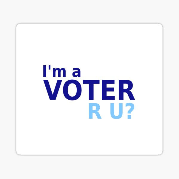 I'm A Voter Sticker