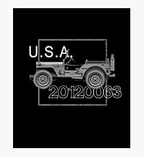 Willys MB WWII Vintage Photographic Print