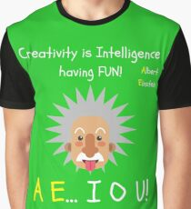 Albert Einstein AE...IOU! Graphic T-Shirt
