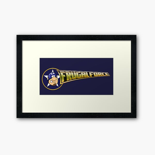 Frugal Force Splash Framed Art Print