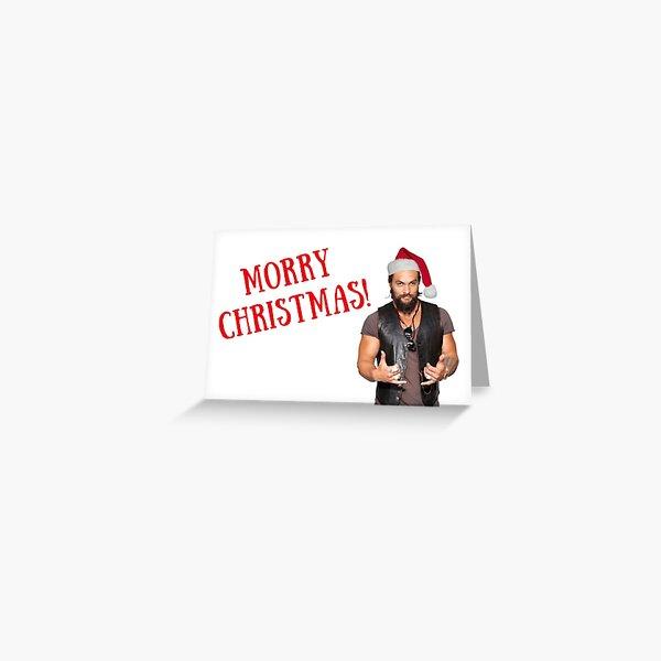 Morry Christmas, Jason Momoa Christmas card, meme greeting cards Greeting Card