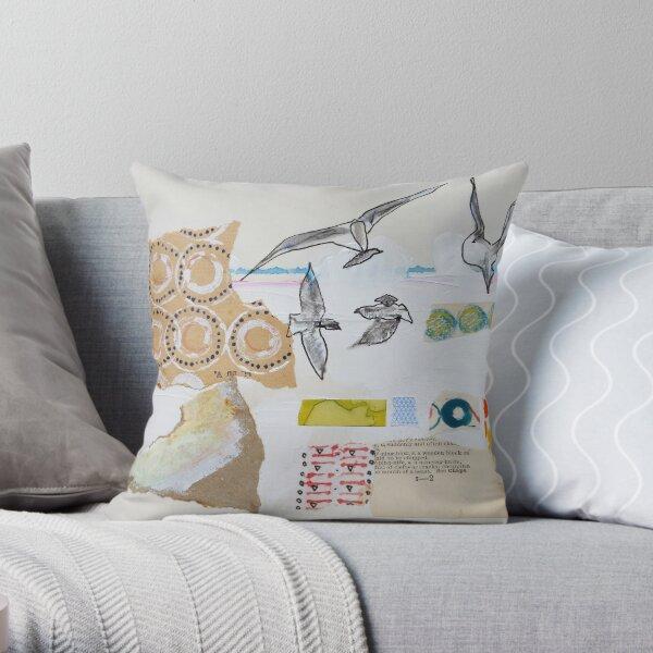 Grey Gulls Throw Pillow