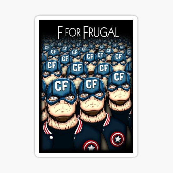F for Frugal Sticker