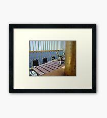 Caged Office Framed Print
