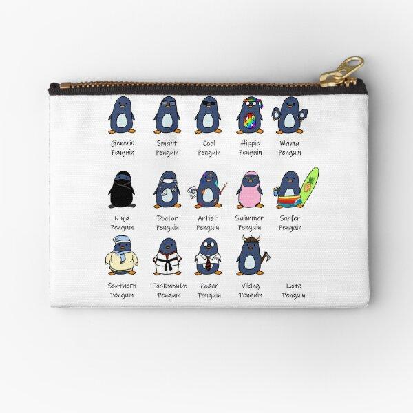 Types of Penguins Design Zipper Pouch