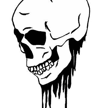 Bleeding skull by Logan81