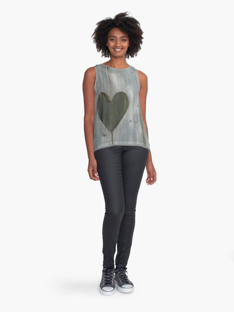 Alternate view of Heart, Love, all we need is LOVE  Sleeveless Top