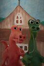 (Dinosaur) American Gothic by Sara Sadler
