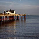 October evening light on Southwold Pier. by Karen  Betts