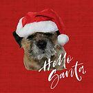 Border Terrier Cushion, Mug, Tote Bag, Sweatshirt - Hello Santa by ScruffyLT