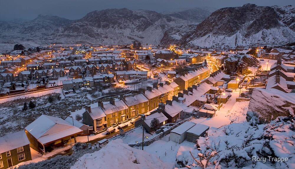Blaenau Ffestiniog in the grip of winter  by Rory Trappe