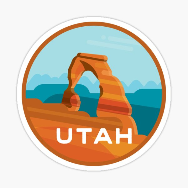 Utah Arches National Park, Delicate Arch Sticker
