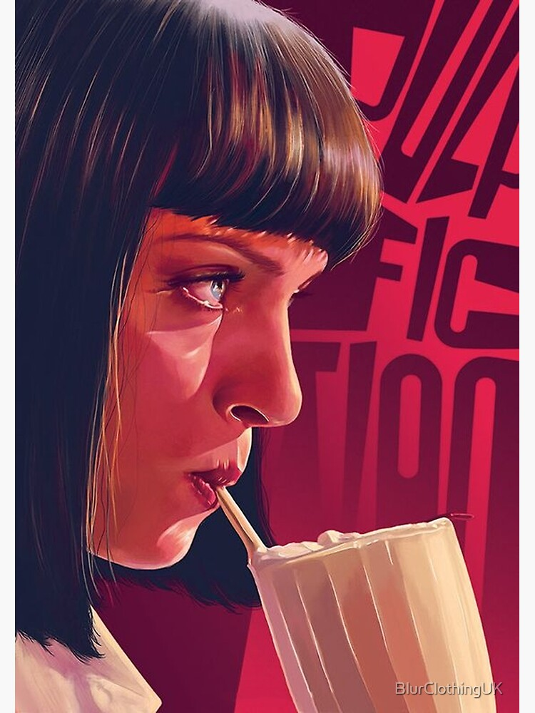 Mia Wallace Pulp Fiction by BlurClothingUK