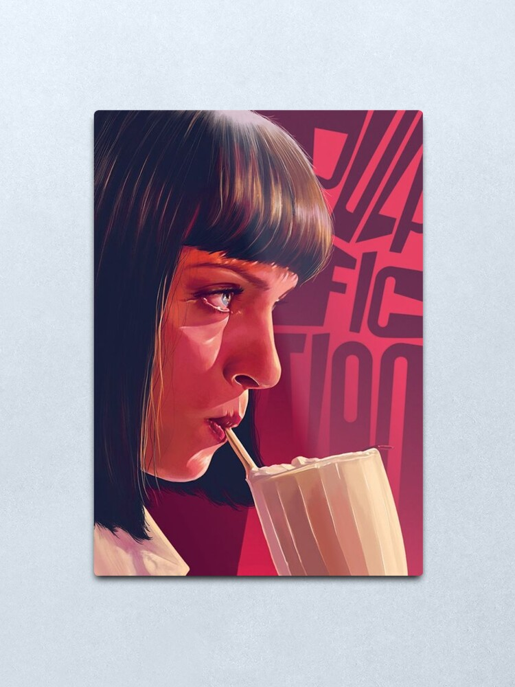 Alternate view of Mia Wallace Pulp Fiction Metal Print